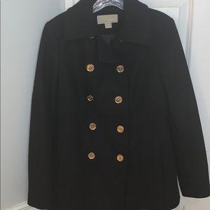 Michael Kors black pea coat